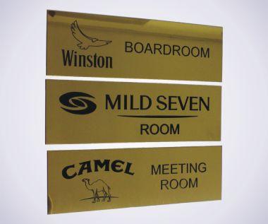 An image of Brass Door Signs - 200mm x 80mm