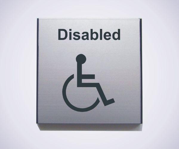 Aluminium Disabled Sign