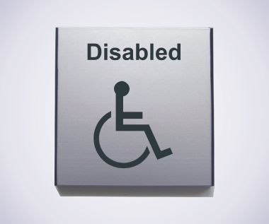 Aluminium Disabled Sign