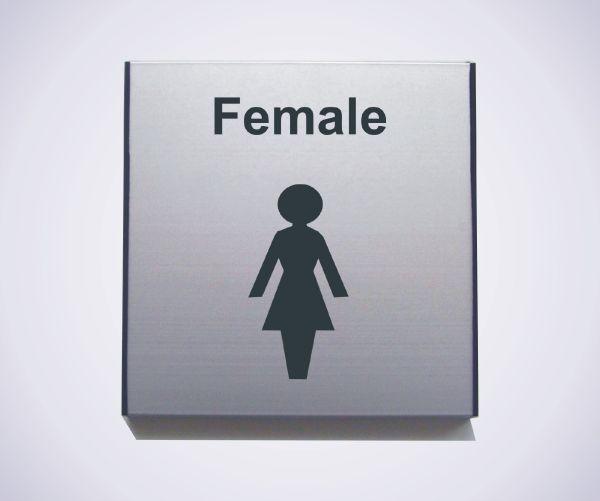 Aluminium Female Sign
