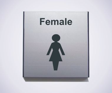 Aluminium Female Sign