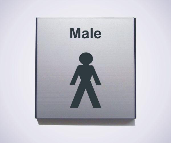 Aluminium Male Sign