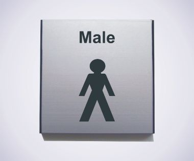 Aluminium Male Sign