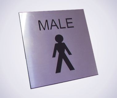 Acrylic Picture Sign - Male