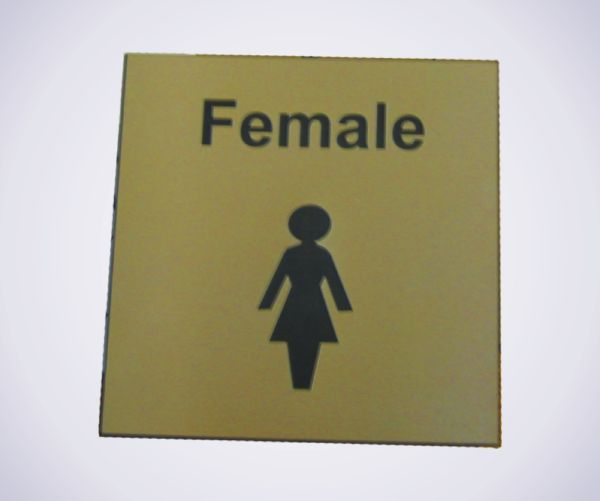 Acrylic Picture Sign - Female