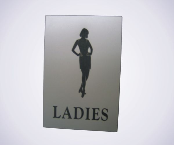 Acrylic Picture Sign - Ladies