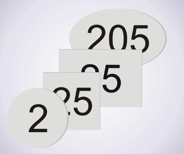 Aluminium Room Numbers