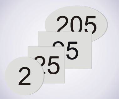 An image of Aluminium Room Numbers - 70mm x 70mm - Disc