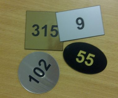Acrylic Room Numbers