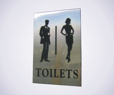 Acrylic Picture Sign - Toilet