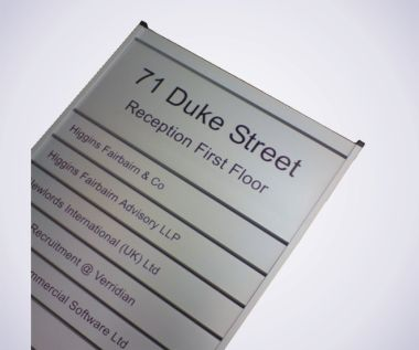 10 Strip Nameboard