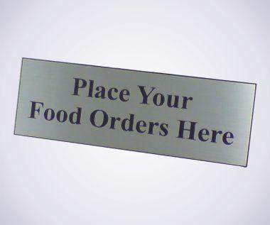 Food Order Sign