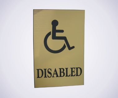 Acrylic Picture Sign - Disabled