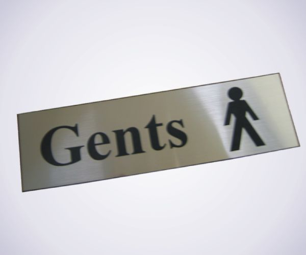 Acrylic Picture Sign - Gents