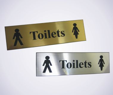 Acrylic Picture Sign - Toilets