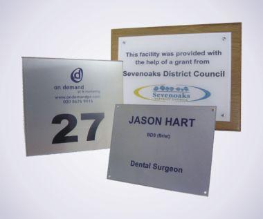 Cast Acrylic Nameplate