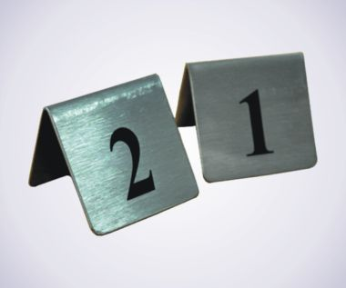 St/Steel Table Numbers - TTN012
