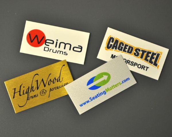 Aluminium Dye Sub Labels 50mm x 25mm
