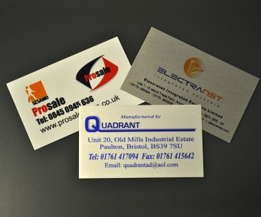 Aluminium Dye Sub Labels 125mm x 75mm