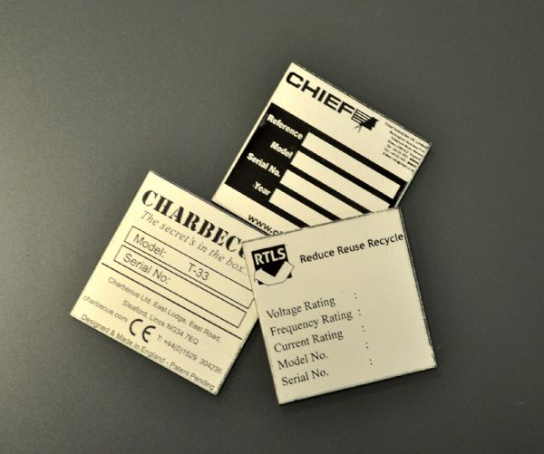 Aluminium Anodic Labels 50mm x 50mm