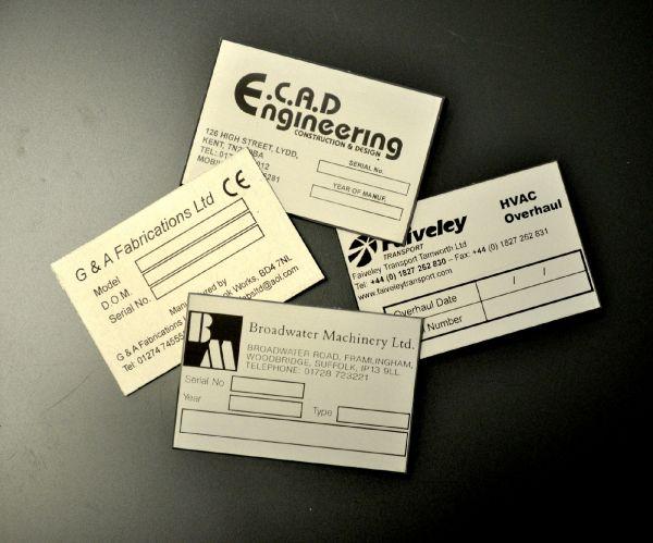 Aluminium Anodic Labels 75mm x 50mm