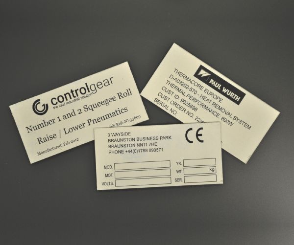 Aluminium Anodic Labels 100mm x 50mm