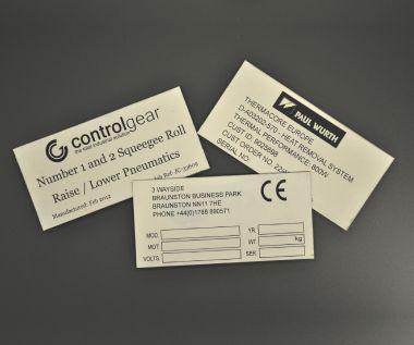 Aluminium Anodic Labels 100mm x 50mm
