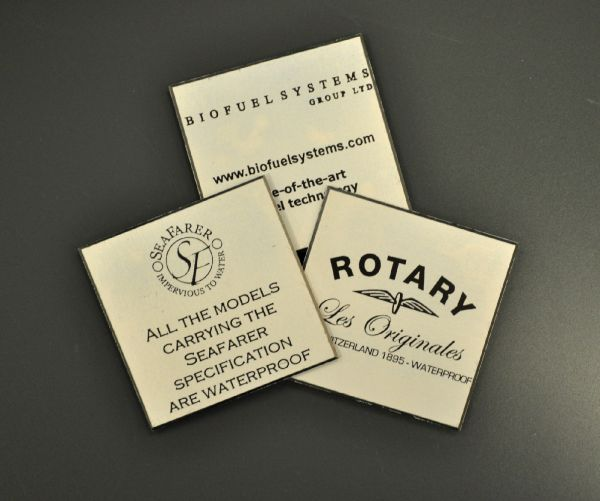 Aluminium Anodic Labels 50mm x 50mm
