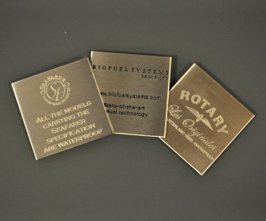 Etched Stainless Steel Labels 50mm x 50mm