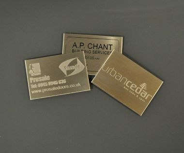 Etched Stainless Steel Labels 75mm x 50mm