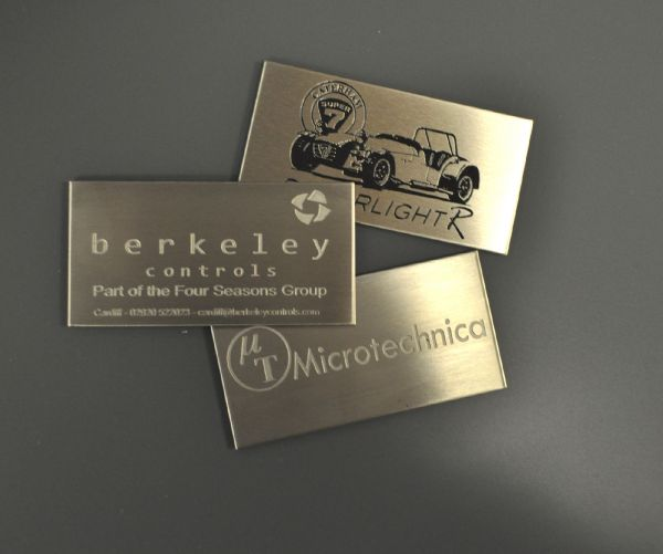 Etched Stainless Steel Labels 100mm x 50mm