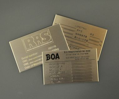 Etched Stainless Steel Labels 50mm x 25mm