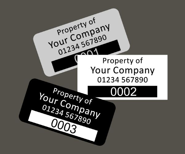 Aluminium Dye Sub Labels Type 2 38mm x 20mm