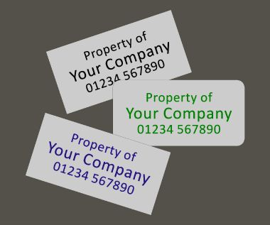 Aluminium Anodic Labels Type 1 50mm x 25mm