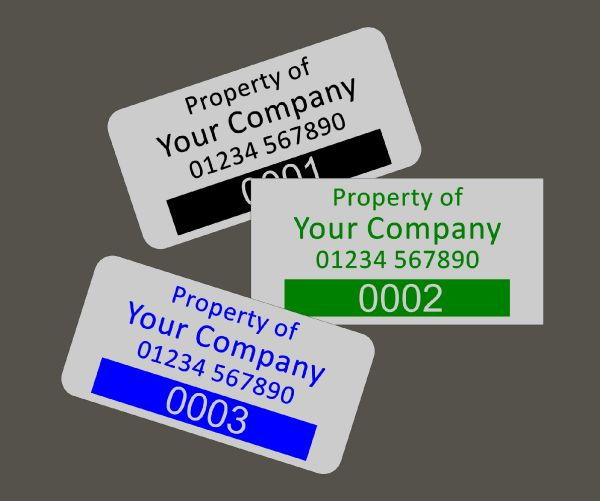 Aluminium Anodic Labels 75mm x 35mm Type 2
