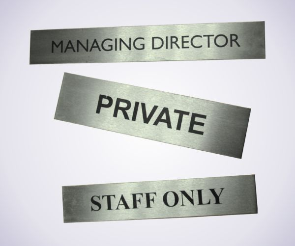 Lasered St/Steel Door Signs