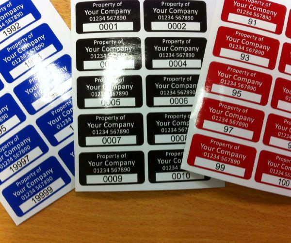 S/A Vinyl  Asset Labels Type 1 75mm x 35mm
