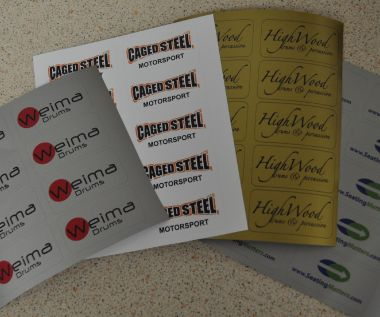 S/A Vinyl Identification Labels 50mm x 25mm