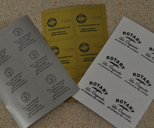 S/A Vinyl Identification Labels 50mm x 50mm
