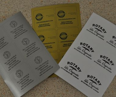 S/A Vinyl Identification Labels 50mm x 50mm