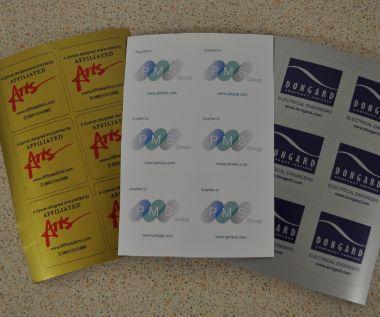 S/A Vinyl Identification Labels 85mm x 85mm