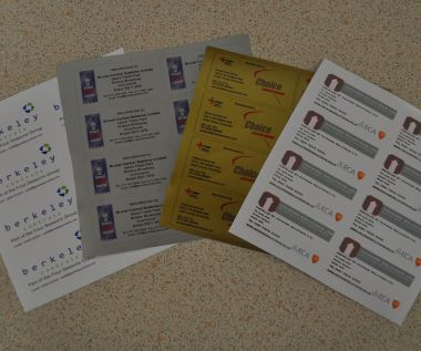 S/A Vinyl Identification Labels 100mm x 50mm