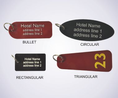 An image of Acrylic Key Fobs - 75mm x 25mm