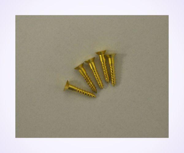 Size 4 Brass Wood Screws (pkt of 5)