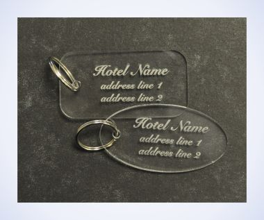Clear Acrylic Key Fobs