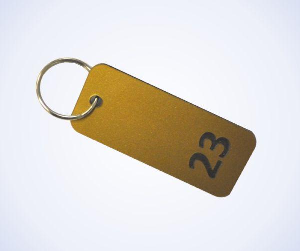 Brass Effect Key Fobs
