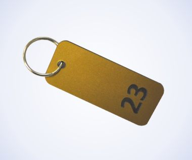 Brass Effect Key Fobs