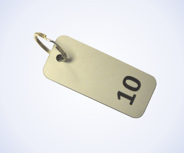 Aluminium Effect Key Fobs