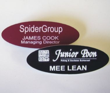 Engraved Oval Badges