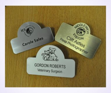 Engraved Radius Top Badges